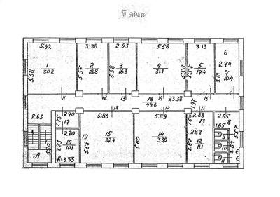 Схема БТИ 3 этаж