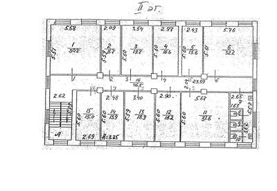 Схема БТИ 2 этаж